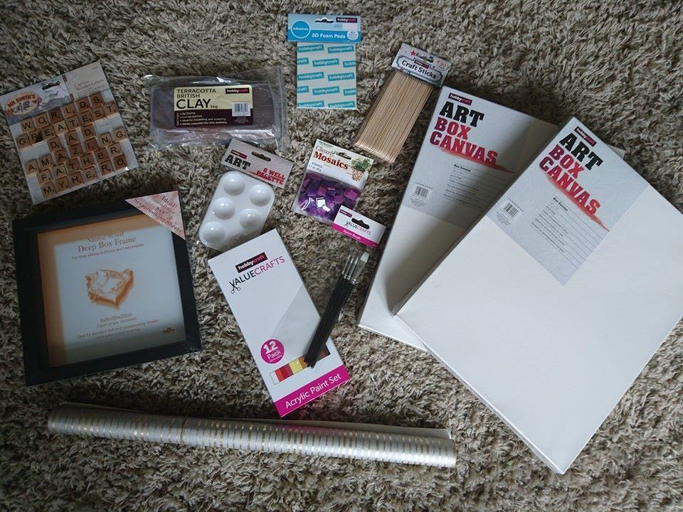 Handmade fathers day gifts with Hobbycraft