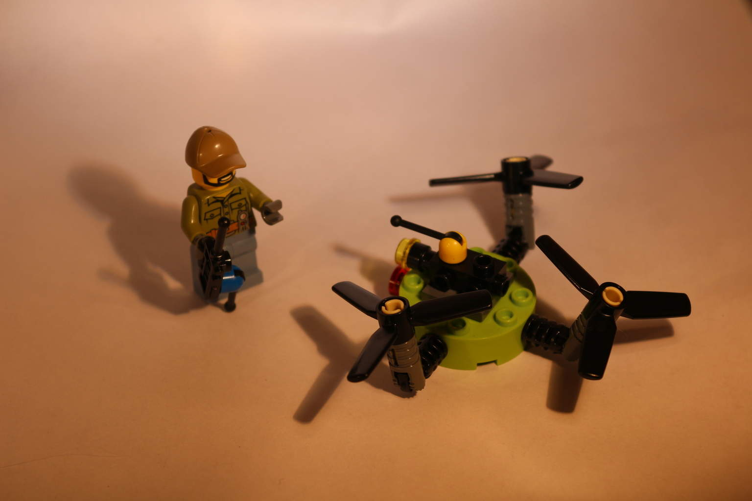 lego city drone and mini fig