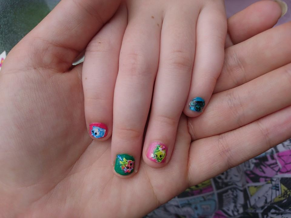 H&A painted nails