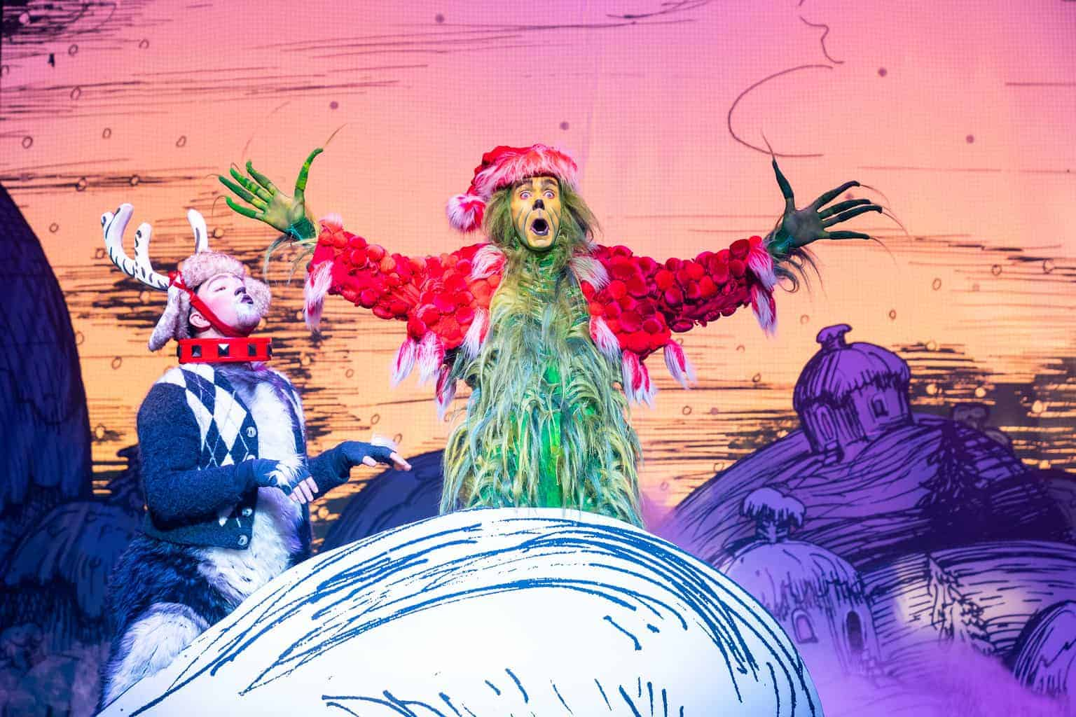 Dr Seuss' How The Grinch Stole Christmas! The Musical at The Lowry theatre